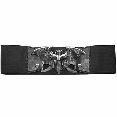 Kreepsville 666 Elastic Waist Skull Skeleton Goth Emo Punk Black Belt BTWSKBK