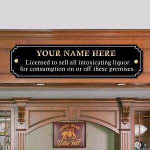 Charmant Image Is Loading Personalised Licence To Sell Alcohol Sign Landlord Door