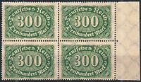 MiNr. 249 im Viererblock vom rechten Seitenrand postfrisch