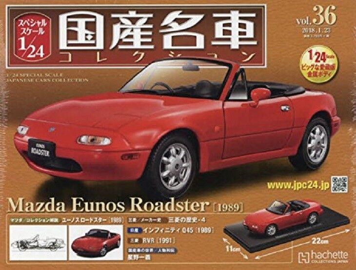 punto de venta en línea Colección de coche famoso japonés vol.36 1 24 Mazda Mazda Mazda Eunos Roadster Revista  solo para ti