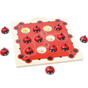 Wooden-Ladybird-Board-Game-Puzzle-Toy-Memory-Training-Chess-Kid-Educational