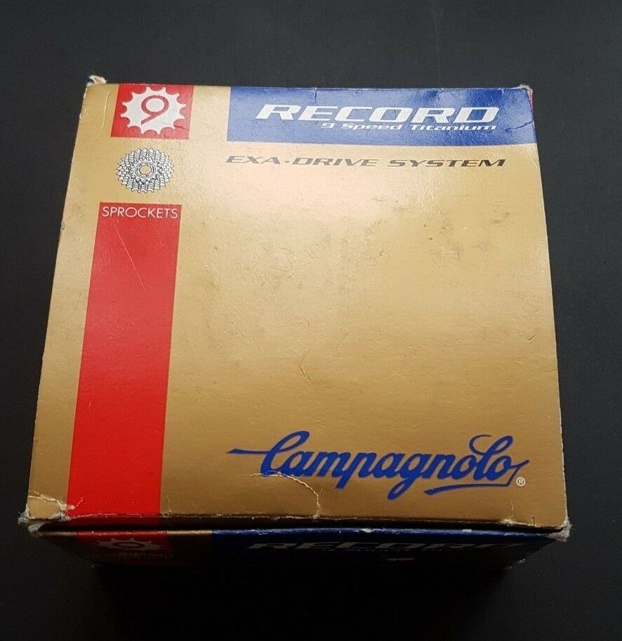 NEW CAMPAGNOLO RECORD TITANIUM CASSETTE 9 SPEED HEXA DRIVE 12-21 NOS
