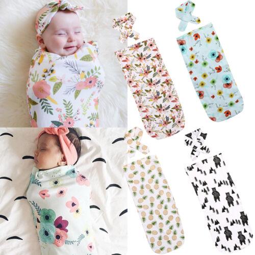 Newborn Baby Soft Cotton Floral Swaddling Swaddle Muslin Wrap Blanket Nursing