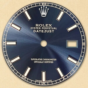 REFINED-MENS-SS-DATEJUST-NAVY-BLUE-DIAL-WITH-LUMINOUS-MARKER-RT-FOR-ROLEX-36
