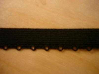 elastische Spitze 0,28€/m in schwarz 10 Meter M5.1