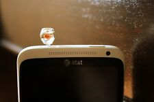 Orange gold fish phone plug phone jack charm
