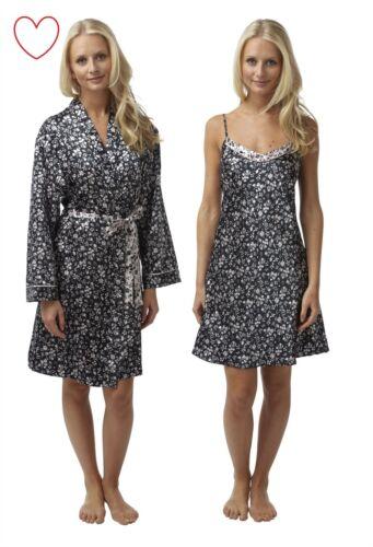 Satin Chemise Nightdress Nightie Satin Robe Wrap Gown Nightwear Sleepwear