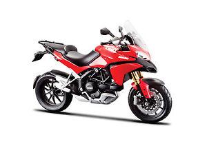 Ducati-Multistrada-1200-S-Rojo-Escala-1-18-Moto-Modelo-de-Maisto