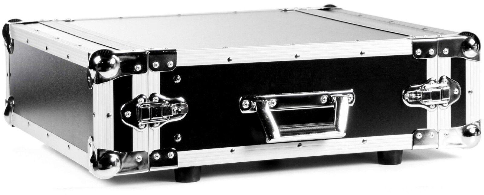 Effektrack Discorack 3HE, 43cm tief schwarz, Double Door, Verstärkerrack Amprack