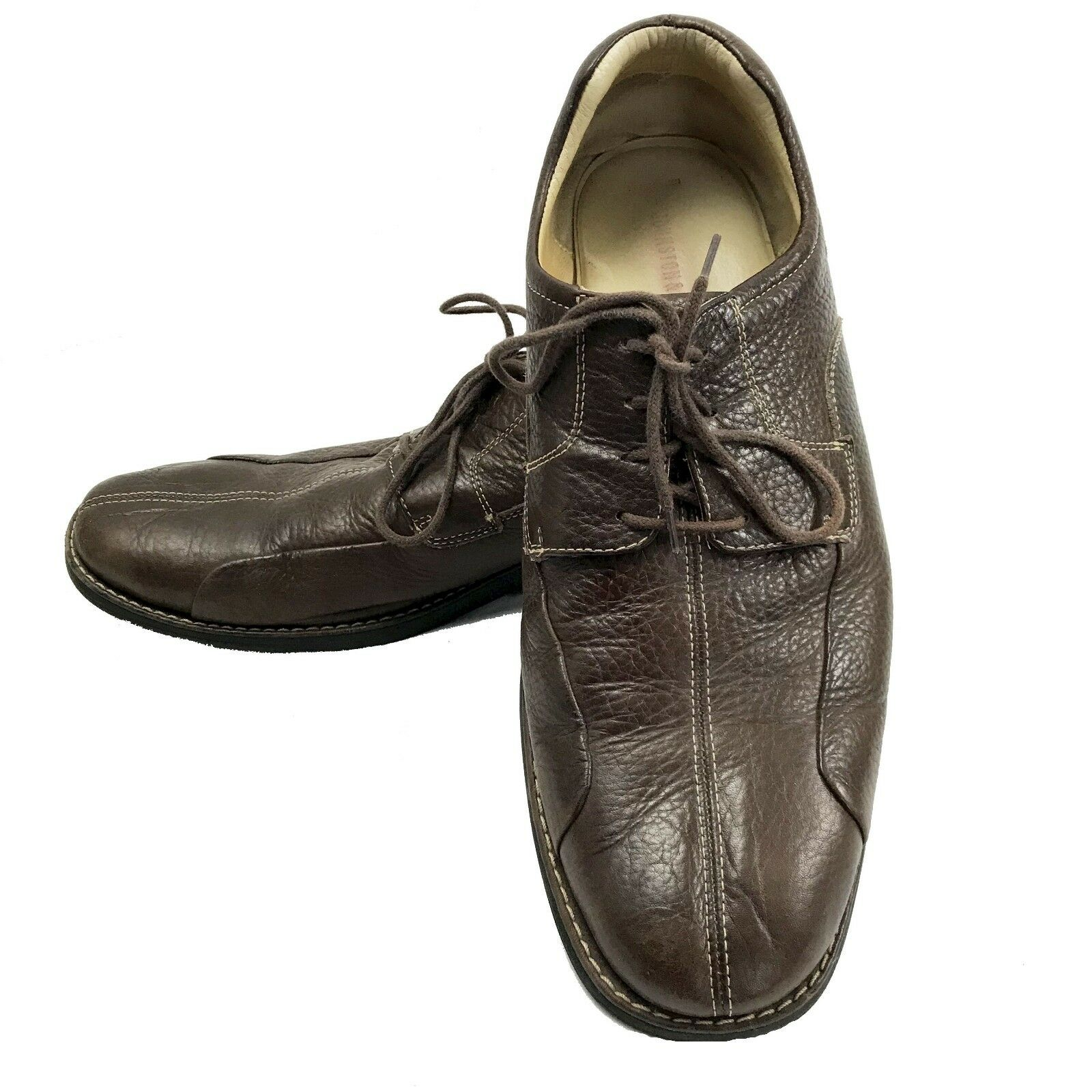 Johnston & Murphy 20-7223 Mens Brown Leather Oxford shoes Size 13 M Bicycle Toe