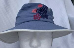 fdc79507 REI Girls Nylon Sun Hat Chin Strap-Blue-Brim-Mesh Lining-Kids 7-14 ...