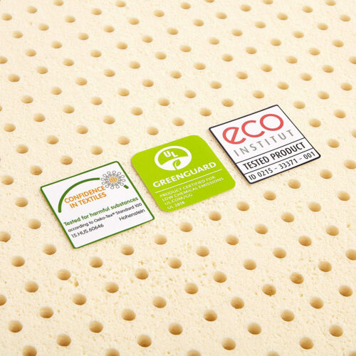 "100/% Natural Latex Foam Mattress Topper 3/"" Pure Green Breathable Soft Firmness"