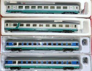 ACME-Set-4-carrozze-XMPR-e-PAX-logo-Trenitalia-verde-rosso-SIBARI-PAOLA