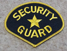 SECURITY GUARD PATCH Embroidered Badge/Insignia/Emblem Police Law Enforcement
