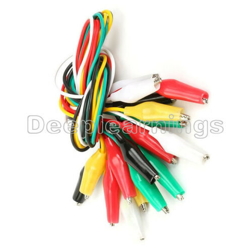 50PCS Double-ended 50cm Crocodile Clips Cable Alligator Jumper Wire Test Leads A