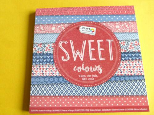 Hintergrundpapier Desingblock 50 Blatt Sweet Coloring  Scrapbooking Basteln