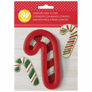 Details About Wilton Large Red Candy Cane Comfort Grip Holiday Cookie Cutter 2310 3743
