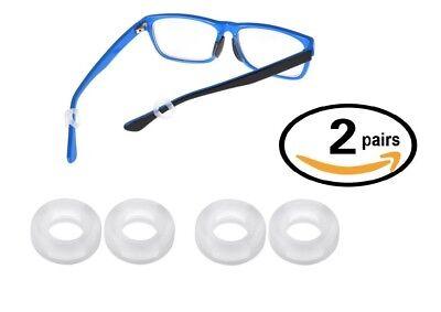 One Pair Kids Childrens Glasses Frame Temples Anti Slip Silicon Ear Grip Tips Hooks Choose Colour
