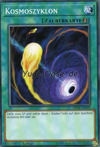Yu-Gi-Oh /> Cosmos Cyclone /< SDCL-de029 Common allemand cyberse Link