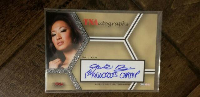 2008 TRISTAR TNA AUTO SIGNED CARD GAIL KIM 1ST KNOCKOUTS CHAMP INSCRIPTION WWE