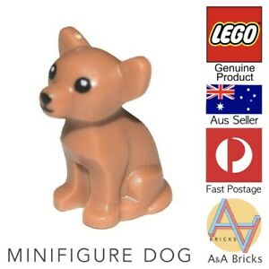 Genuine-LEGO-Minifigure-Dog-Chihuahua-with-Black-Eyes-Nose-and-Mouth-NEW