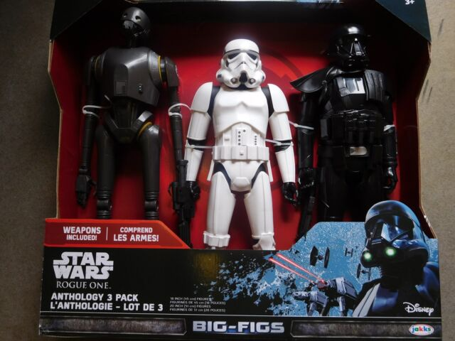 "Star Wars Rogue One K-2SO Stormtrooper Death Trooper 18/"" Figure Big figs 3 Pack"