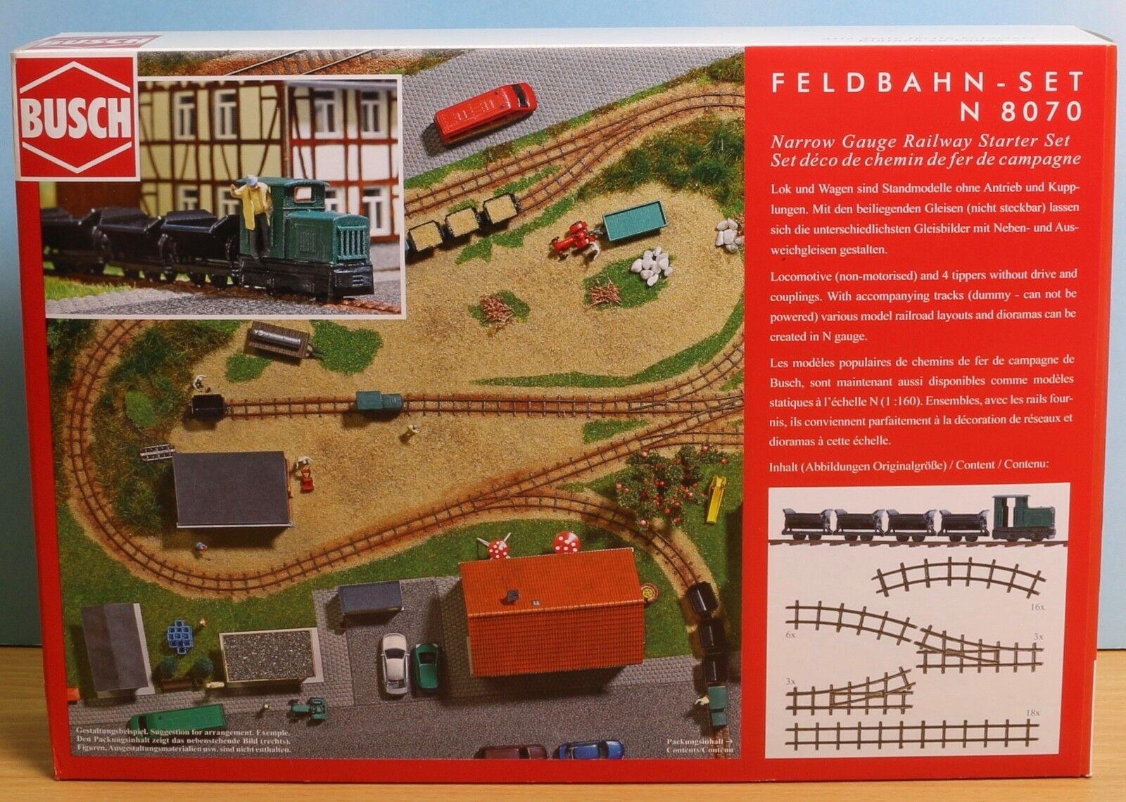 Busch 8070, Spur N, Bausatz Feldbahn-Set (Kunststoff) ohne Antrieb, Standmodelle Standmodelle Standmodelle 86bf06