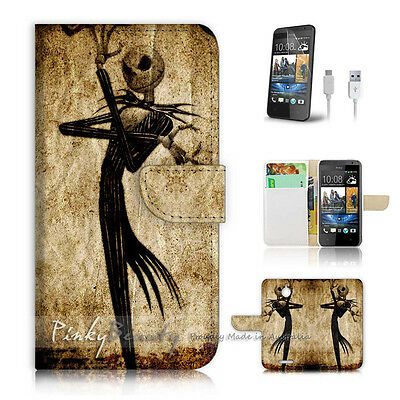 ( For HTC Desire 510 ) Case Cover! P1369 Nightmare Christmas
