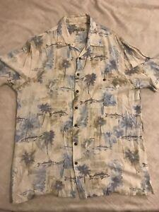 Batik-Bay-XXL-Hawaiian-Aloha-Fish-Shirt-Palm-Trees-Tropical-Beach-BUTTON-UP-MENS