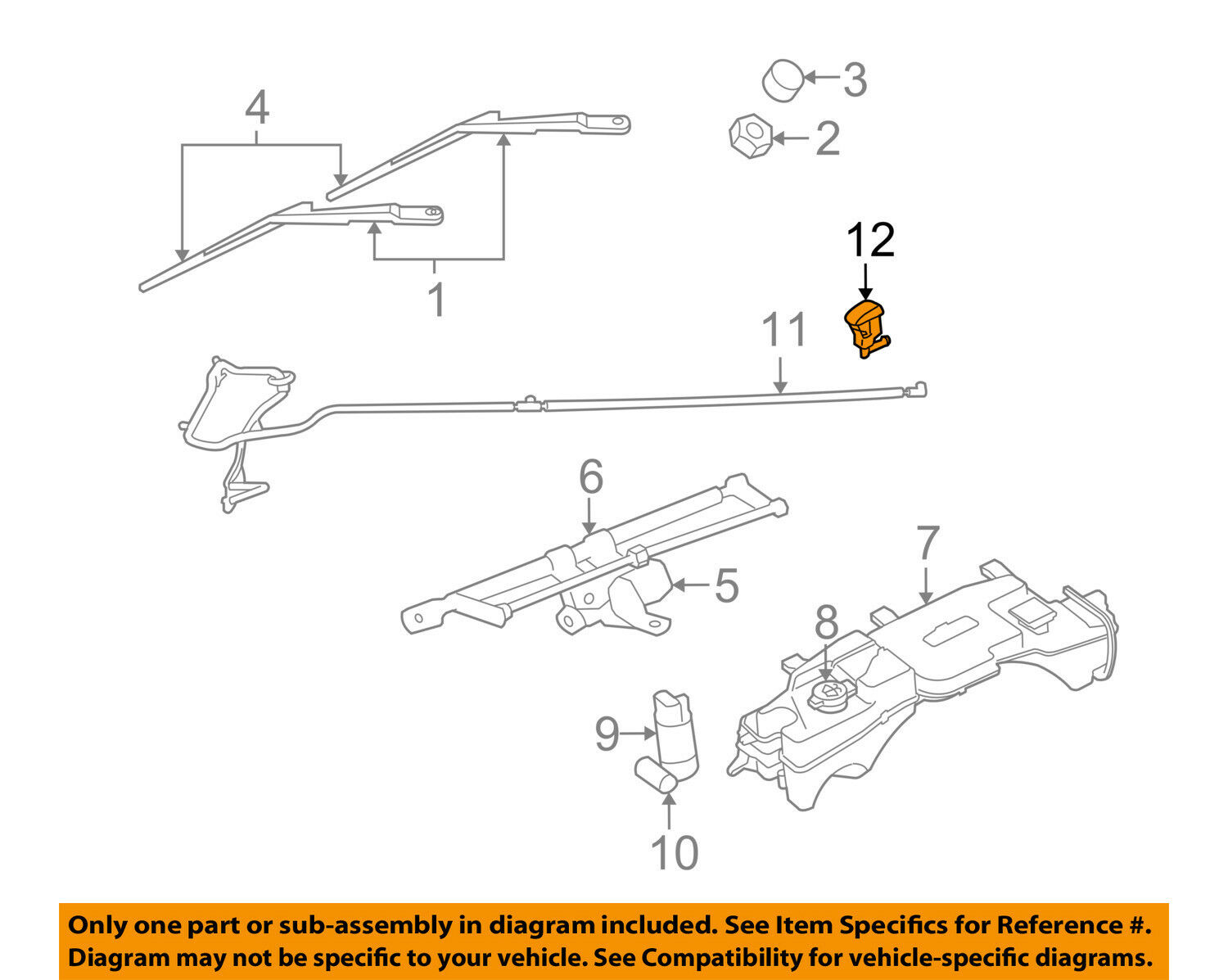 Jeep Liberty Engine Diagram Windshield Sprayer Blog About Wiring 2006 Washer Nozzle Front Mopar 55157319aa Ebay