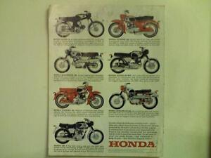 1968 Honda CL $6.50 Reprint 450 Scrambler   motorcycle sales brochure,