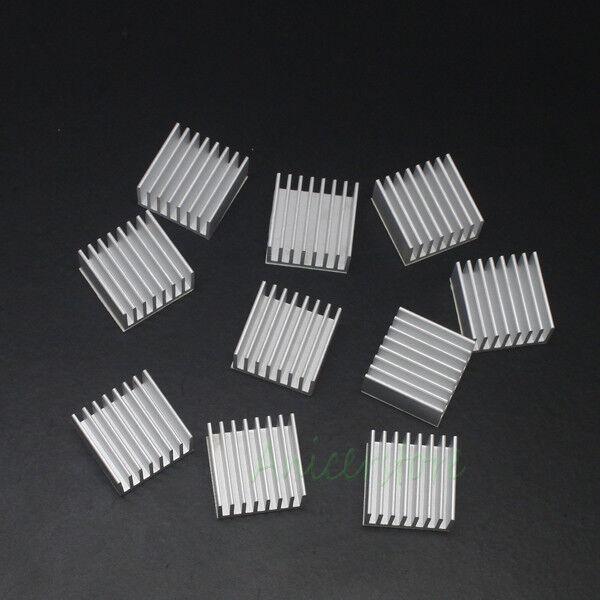 New Green 10pcs 14mm 14x14x11mm Aluminum Cooling Heatsink For Memory Chipset IC