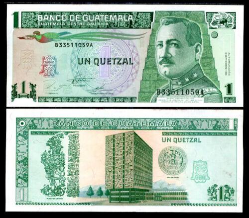 GUATEMALA 1 QUETZAL 1995 P 87 AU-UNC