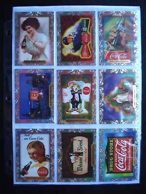 NEW 1995 Coca Cola Super Premium 60 Card Foil Set w Promotional Card and Sheet