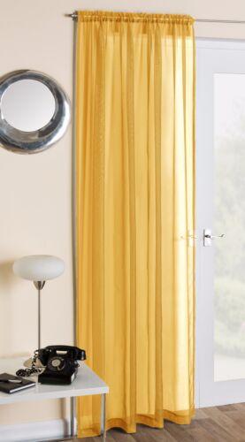 Slot top plain voile filet rideau panneau rod pôle ou fil toutes couleurs /& tailles