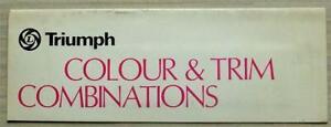 TRIUMPH CARS Colours Trim Paint Exterior Chart c1977 #3239/B STAG Spitfire TR7 +
