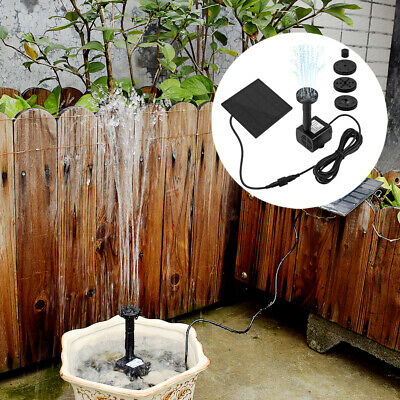 Solarpumpe Springbrunnen Teichpumpe Brunnen Fontäne Gartenteich Wasserspiel