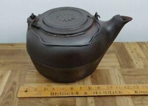 Vintage 8 Cast Iron Tea Pot Kettle