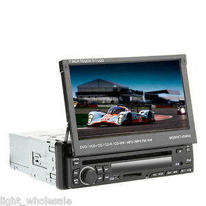 """1 din 7"""" touch screen in dash deck car stereo dvd player"""