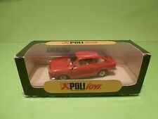 POLITOYS 517 FIAT 850 COUPE - RED 1:43  - GOOD CONDITION IN BOX
