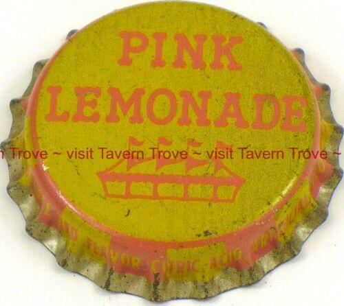 1950s Generic Circus Tent logo PINK LEMONADE SODA Cork Crown Tavern Trove