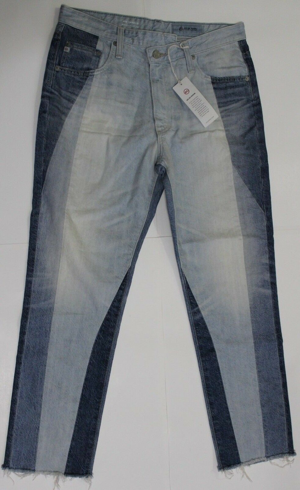 355 AG ADRIANO goldSCHMIED THE ISABELLED HIGH RISE STRAIGHT CROP JEANS SZ 29