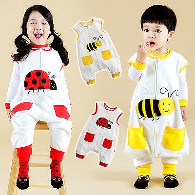 """NWT Vaenait Baby Boy Clothes Kids Cotton Fire Truck Sleepsack /""""Sleep peep/"""" 1T-7T"""