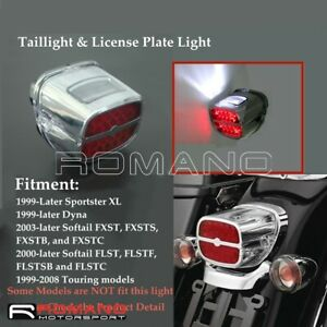 Motorcycle-Red-LED-Taillight-License-Plate-Light-For-Harley-Softail-FLST-FXST