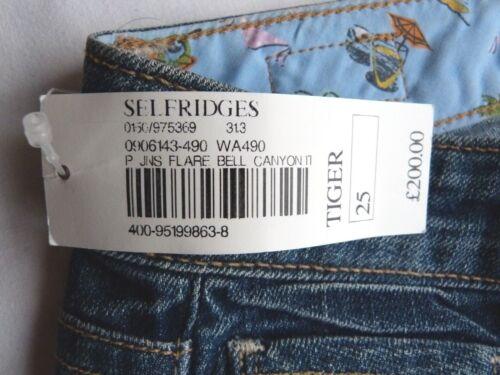Canyon di svasati Blue Bnwt a Jeans Tiger vintage forma Bell taglia jeans 25 Paige wRcAHTI