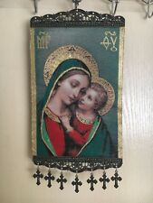 Woven Religious tapestry wall hanging orthodox catholic icon Style 1023