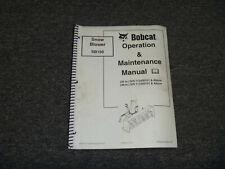 Bobcat Sb150 Snow Blower Owner Operator Maintenance Manual 713400101 Up