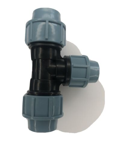 MDPE Water Pipes fittings Reducer Tee 25 X 20 X 25 mm