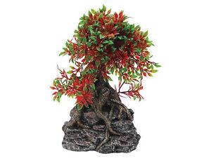 Bonsai Tree sur base rock Vivarium Aquarium Ornament Fish Tank Décoration-afficher le titre d`origine qo4F6X2d-07190016-497513240