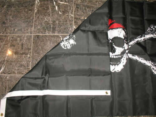 3x5 Jolly Roger Red Hat Flag Rough Tex Knitted flag 3/'x5/' banner